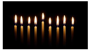 Tenebrae Candles