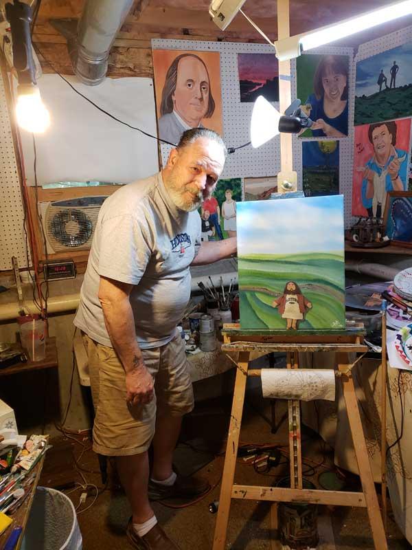 Flat Jesus with Artist Art Lee