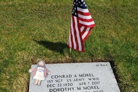 Flat Jesus Plants a Flag on Conrad's Grave