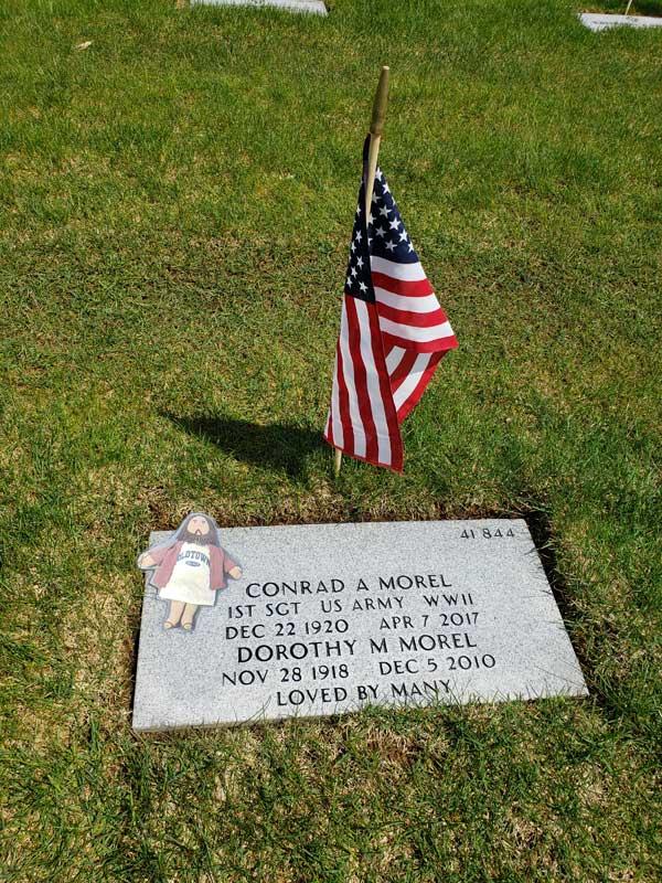 Flat Jesus Plants a Flag on Conrad's Grave