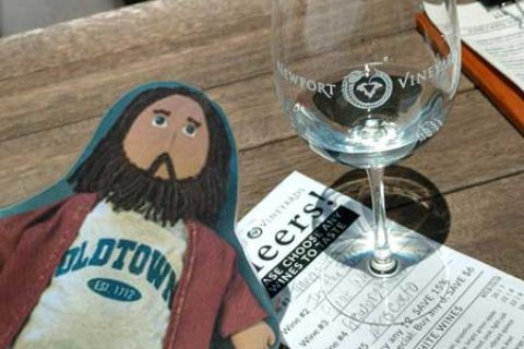 Flat Jesus at Newport Vineyards