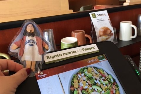 Flat Jesus at Panera