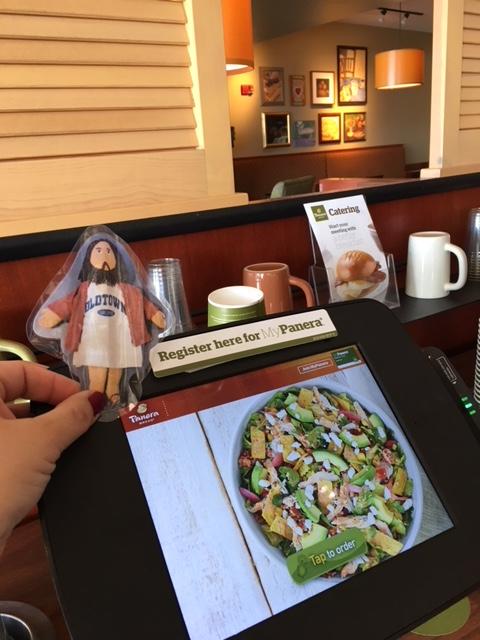 Flat Jesus at Panera