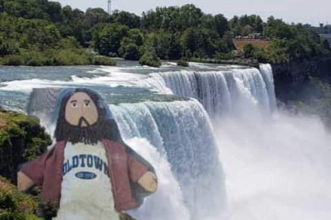 Flat Jesus at the Falls