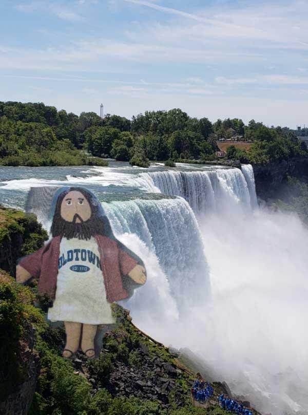 Flat Jesus at the Falls
