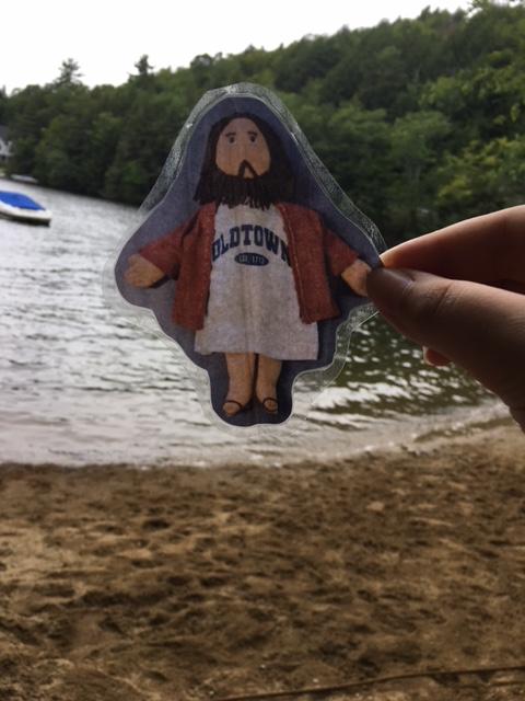 Flat Jesus at the Lake