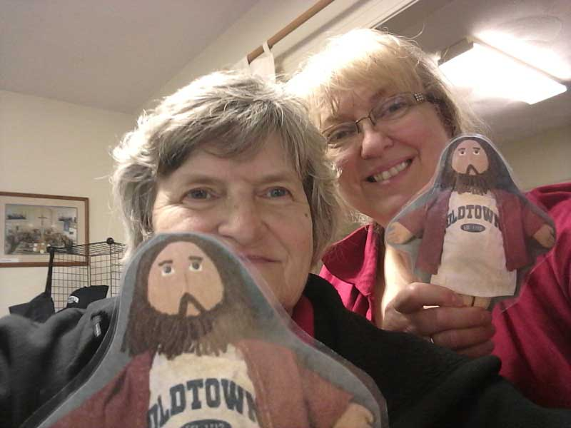 Flat Jesus at the May Coffeehouse