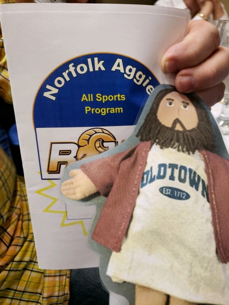 Flat Jesus at the Norflok Aggie Sports Banquet