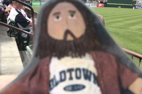 Flat Jesus at the Pawsox