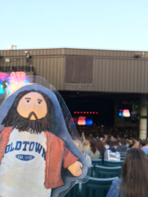 Flat Jesus Rapping at the Xfinity Center