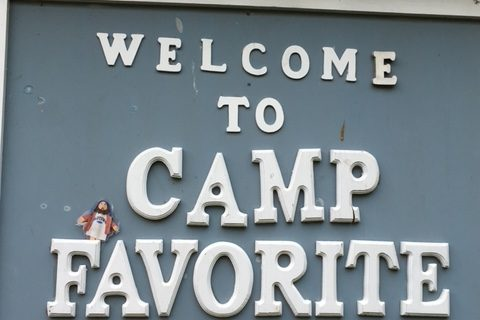 Flat Jesus Goes to Girl Scout Camp