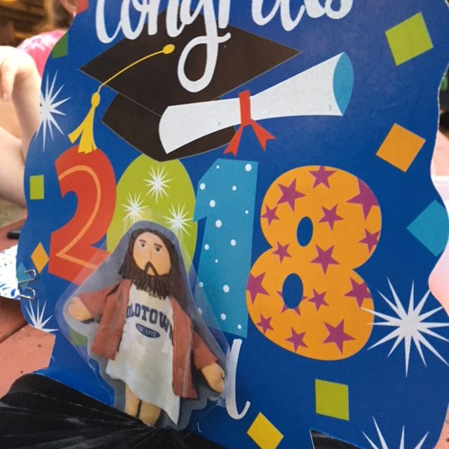Flat Jesus Celebrates High School Graduation