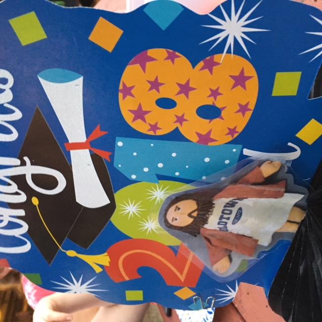 Flat Jesus Celebrates High School Graduation