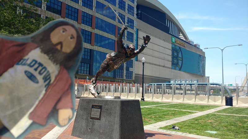 Flat Jesus Hanging with Bobby Orr