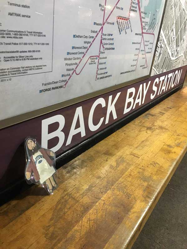 Flat Jesus at Back Bay Station