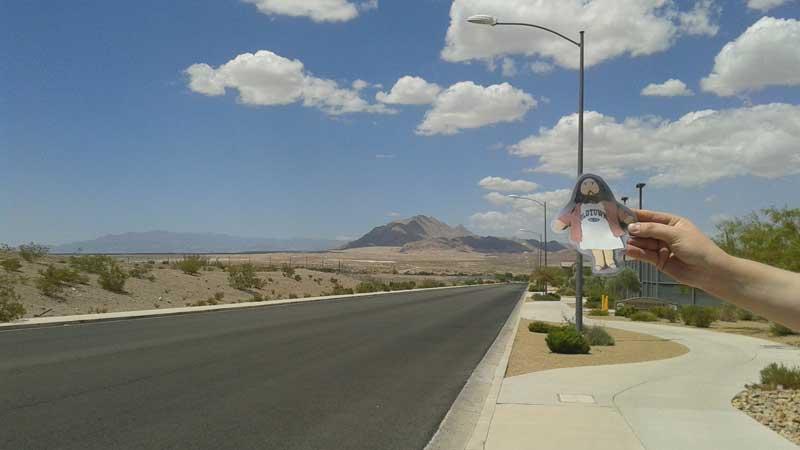 Flat Jesus Loves the Nevada Desert