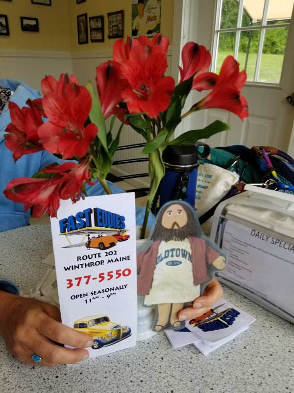 Flat Jesus Goes for Lobster Rolls