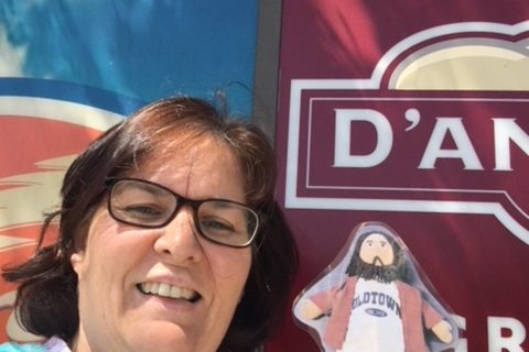 Flat Jesus at the Ludlow Plaza on the Pike