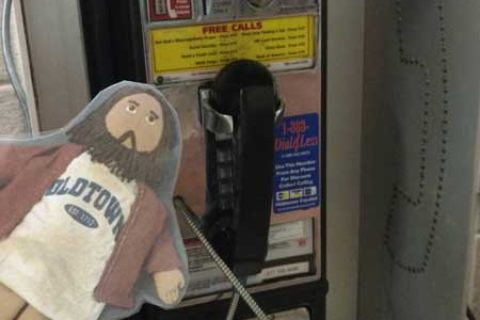 Flat Jesus Phones Home