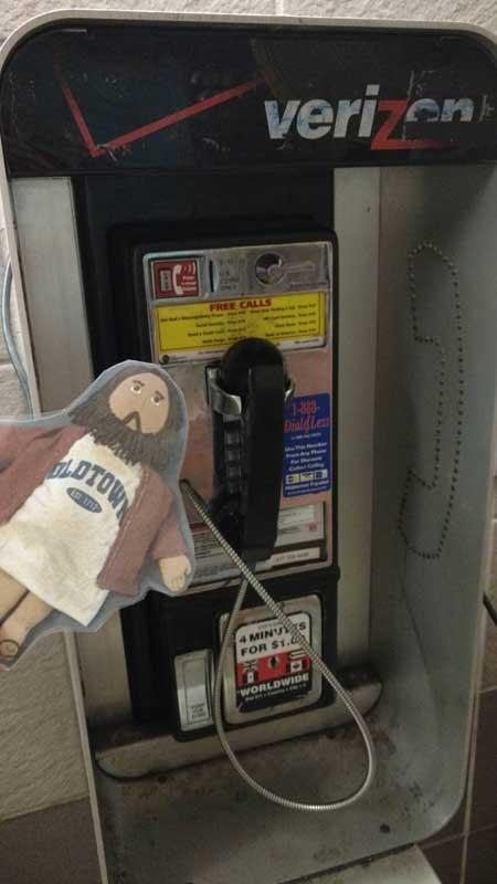 Flat Jesus Phones Home