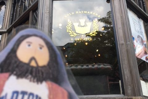Flat Jesus Shopping in Boston