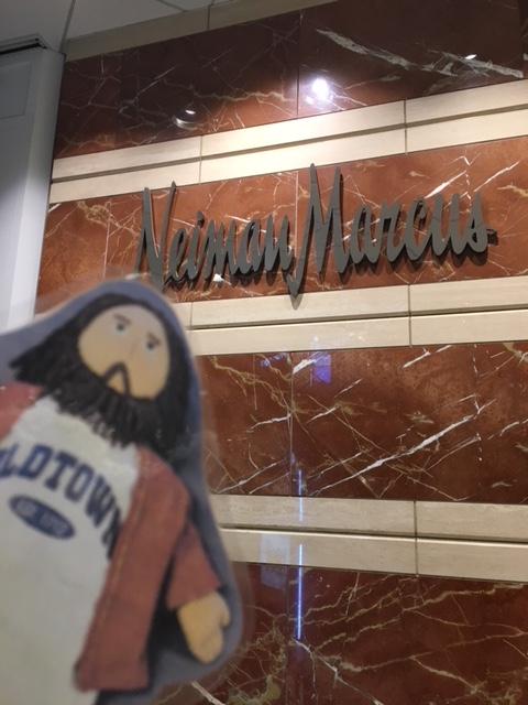 Flat Jesus Shopping in Boston