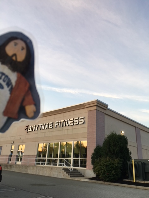 Flat Jesus Works Out