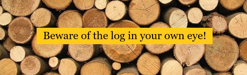 Beware of the Log In Your Own Eye